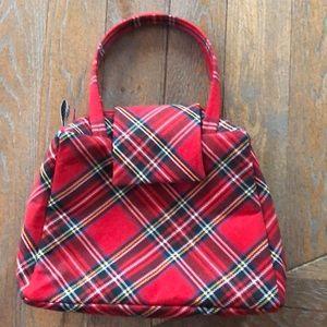 Red Plaid Tartan Small Handbag Punk Alternative